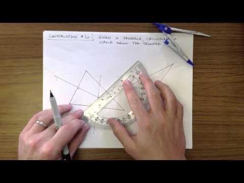 Construction #10 - Circumscribe a Circle Around a Triangle