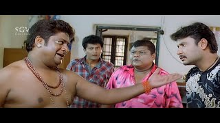 Saarathi Kannada Movie Back To Back Comedy Scenes | Darshan, Rangayana Raghu, Bullet Prakash