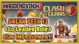 Clash of Clans - SNEAK PEEK #3 - Co-Leader Role!