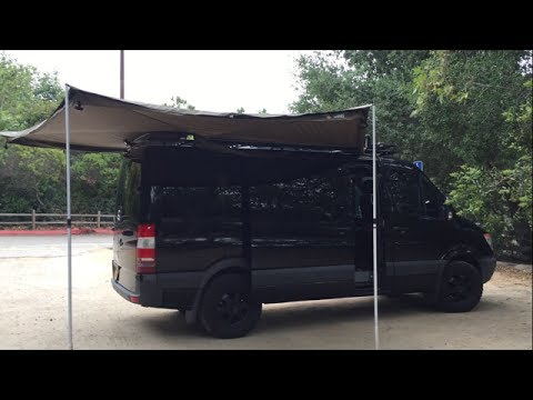 Sprinter Van Foxwing Awning Install Part 2 Youtube