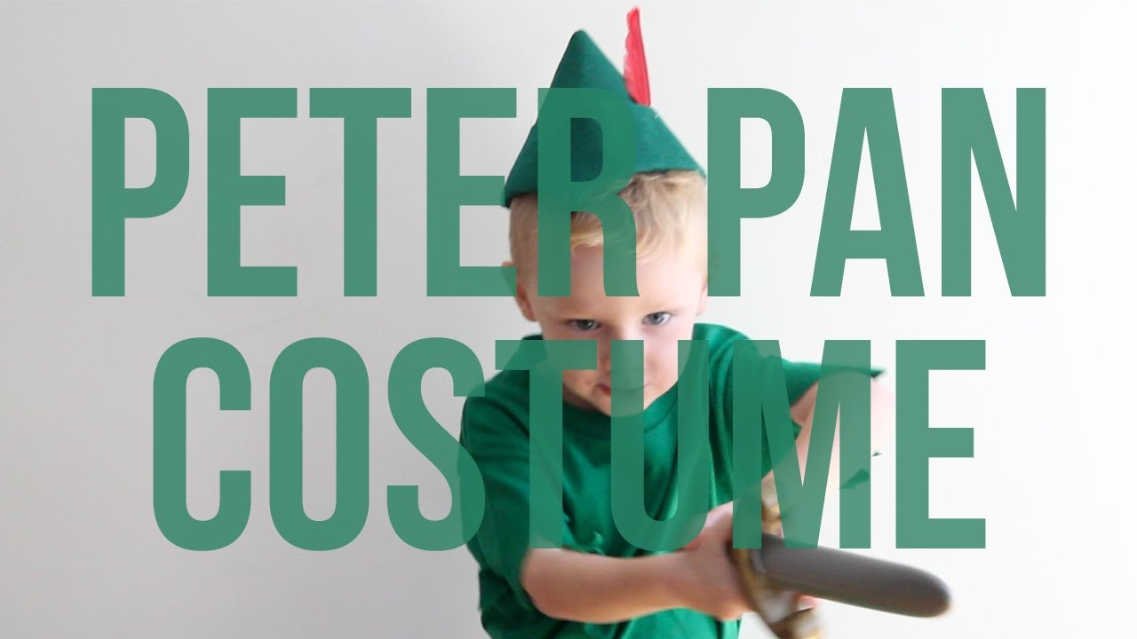 Disneys Peter Pan No Sew Halloween Costume For Kids Youtube