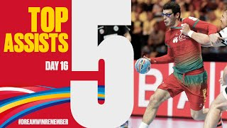 Top 5 Assists | Day 16 | Men's EHF EURO 2020