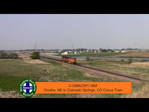 HiDef: BNSF 5789 and BNSF 7673 West - The Circus Is Coming To Town!!!