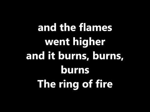 Lyrics~Ring of Fire-Johnny Cash
