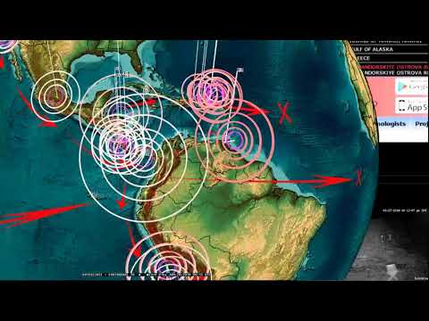 1/27/2018 -- Seismic Unrest spreading -- Earthquakes across Pacific plate motion increasing
