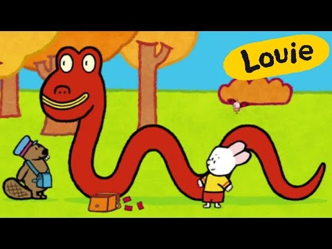 Monster - Louie draw me the Loch-Ness Monster | Learn to draw, cartoon for children