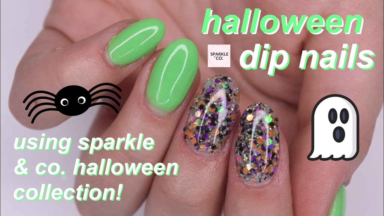 halloween dip nails ft. sparkle & co. - YouTube