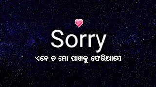 Sorry babu I love you so much | very beautiful love feelings shayari in odia | odia love shayari |