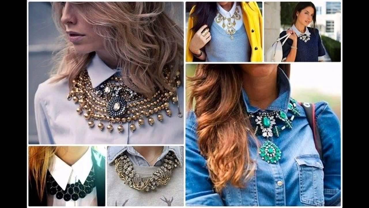 ea82068a87f7 Outfits con collares de moda - YouTube