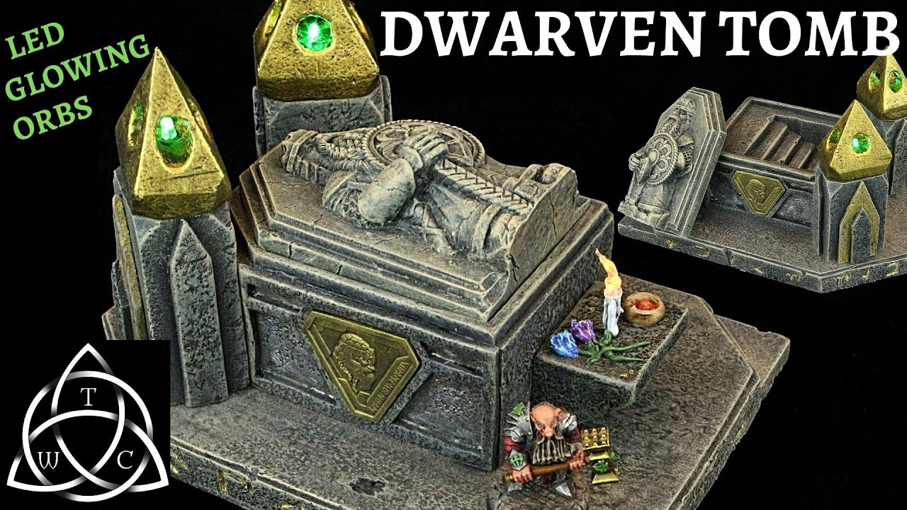 Craft a Dwarven Tomb for Tabletop Gaming