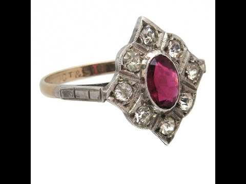 Amberjill - Antique Ruby (Paste) Ring