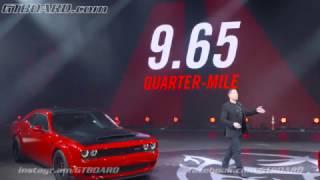 Dodge Challenger SRT Demon New York Auto Show 2018 Press Conference