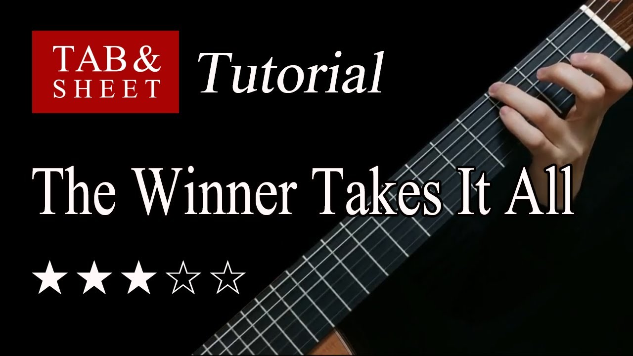 The Winner Takes It All - Fingerstyle Lesson + TAB
