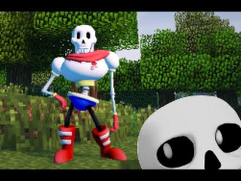 Minecraft mod Sans V2+Papyrus undertale Custom Steve Animations release