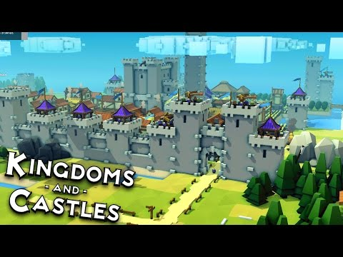 The GREAT WALL!  Kingdoms and Castles Alpha 4 Gameplay