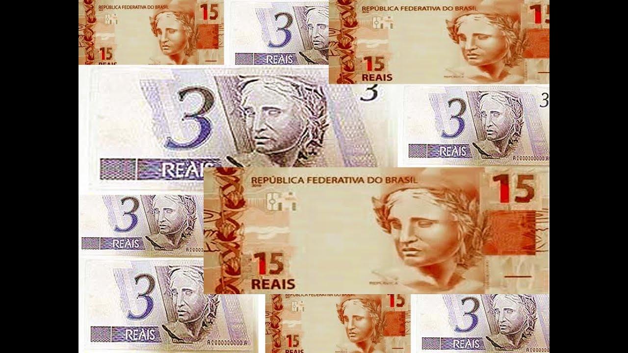 Conheça as novas notas de 3 e 15 reais!Sim elas EXISTEM ...