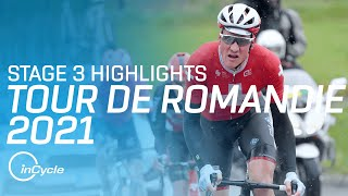 Tour de Romandie 2021 | Stage 3 Highlights | inCycle