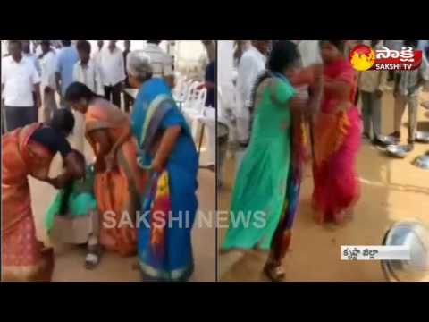 Young Women Protest at Wedding at Gudivada || Krishna District