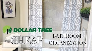 LUXE ON A BUDGET | DOLLAR TREE BATHROOM ORGANIZATION | ORGANIZE WITH ME