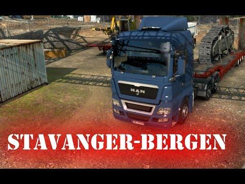Euro Truck Simulator 2 gameplay (HUN) - Stavanger-Bergen