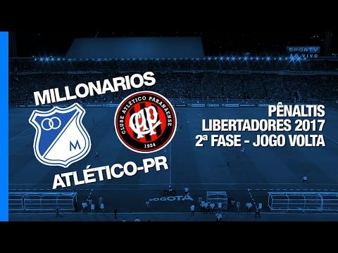 Pênaltis - Millonarios x Atlético-PR - Libertadores - 08/02/2017