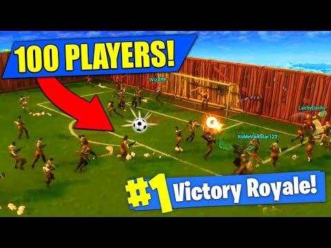100 PLAYER SOCCER MATCH In Fortnite Battle Royale!