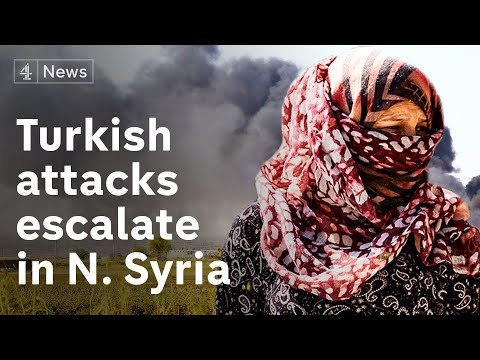 Appeals for international intervention as Turkey claims to have captured a key Syrian border town