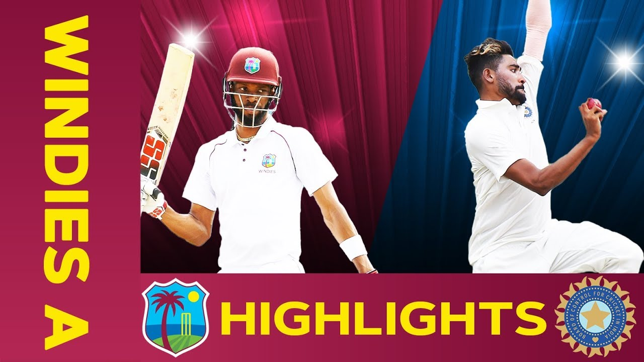 West Indies A Vs India A Match Highlights 2nd Test Day 2 India A Tour Of West Indies