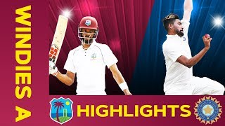 West Indies A vs India A - Match Highlights | 2nd Test - Day 2 | India A Tour of West Indies