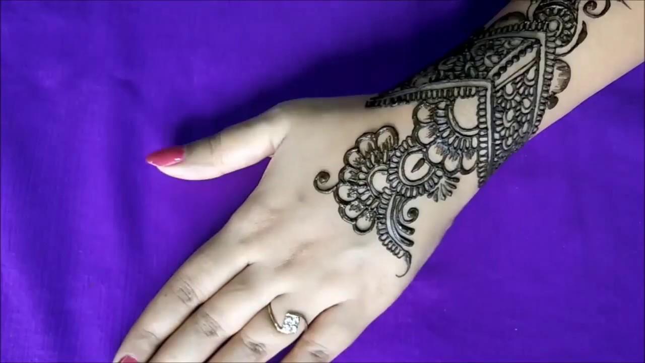 Mehndi Designs Tutorial Youtube : � arabic henna mehndi design designs for hands