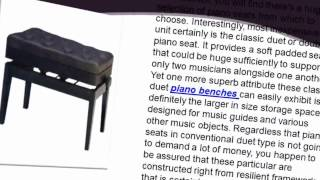 How To Select The Proper Piano Bench For Your Piano