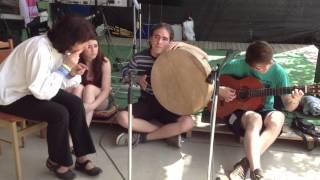 Gabriella Aczél, Zoltán Vajó, David Ravasz - Guitar-Shaman Drum-Tilinko-Doromb-Rattle Improvisation