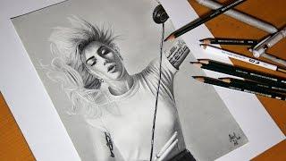 Drawing Lady Gaga - Speedart