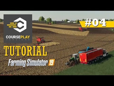 CoursePlay Tutorial: How To Un-Load Trailer From Field To Silo | Farming Simulator 19