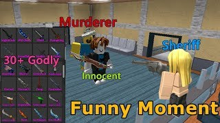 Using 30+ New Godly & Funny Moments! - Murder Mystery 2