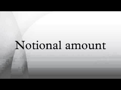 Notional amount