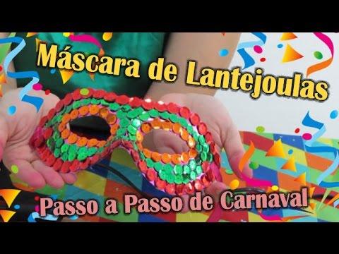 Decoração com Lantejoulas para Máscara de Carnaval