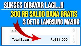 🔴EDAN BRO!! SUKSES DIBAYAR 300 RIBU SALDO DANA GRATIS TANPA APLIKASI - WEBSITE PENGHASIL UANG 2020