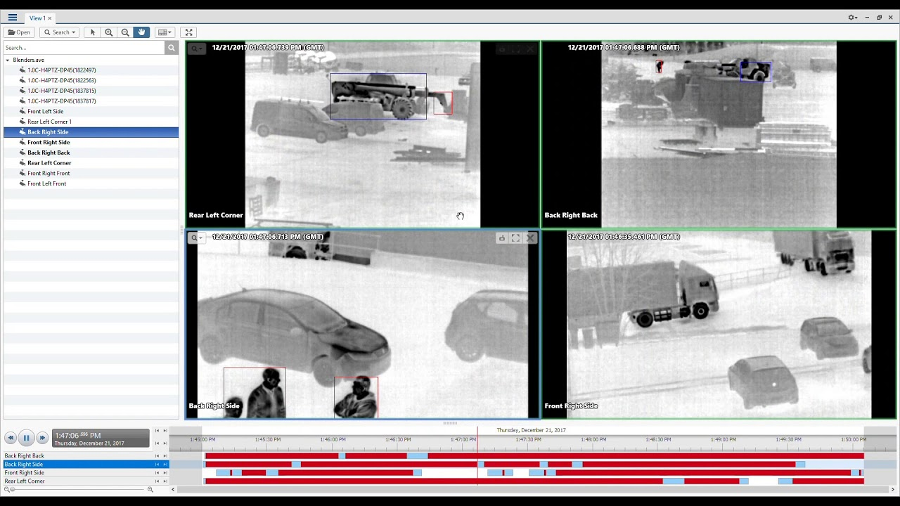 Avigilon H4 Thermal Camera | Detecting People with Multiple Cameras