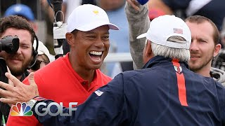Tiger Woods wins singles match with walk-off putt | Presidents Cup | Golf Channel