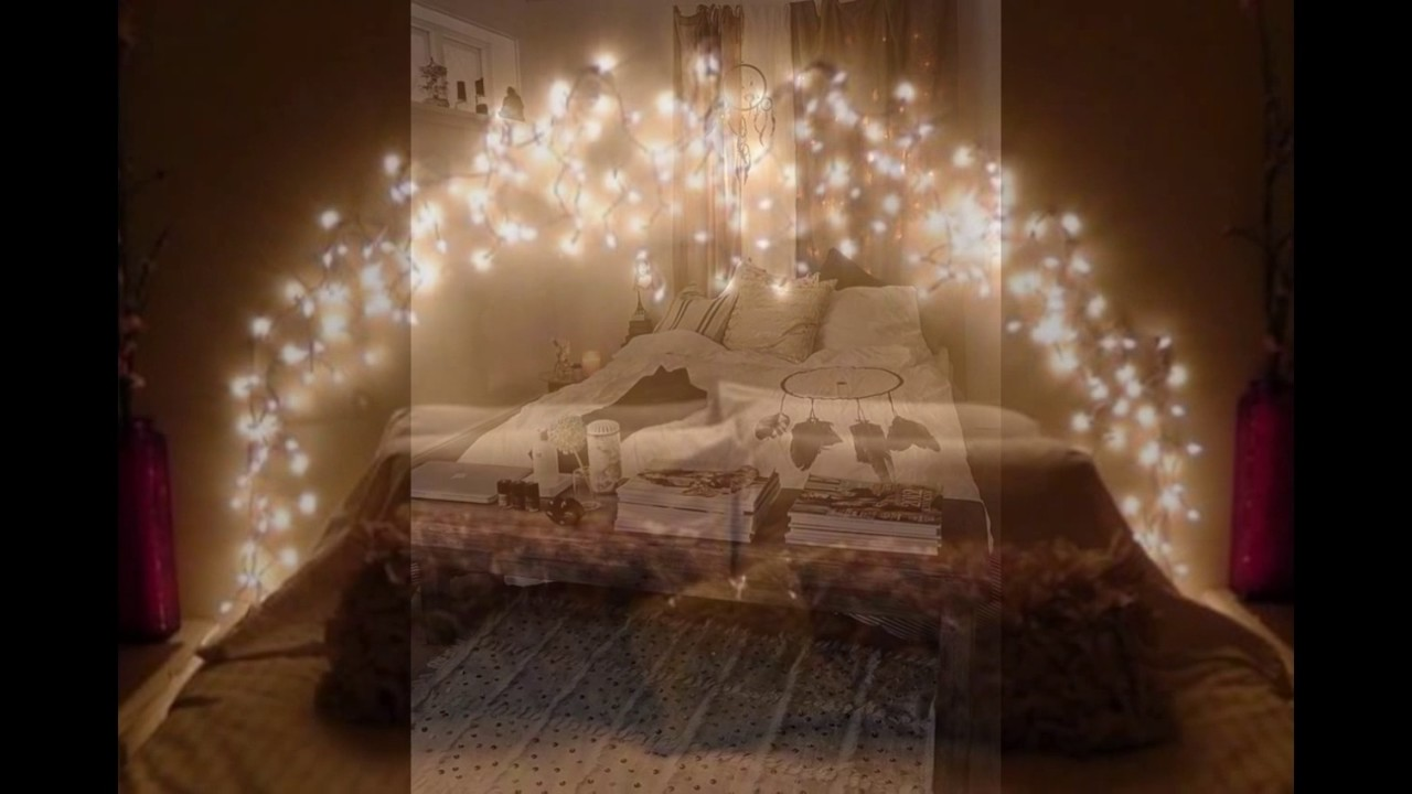 cool string lights ideas for your bedroom youtube. Black Bedroom Furniture Sets. Home Design Ideas