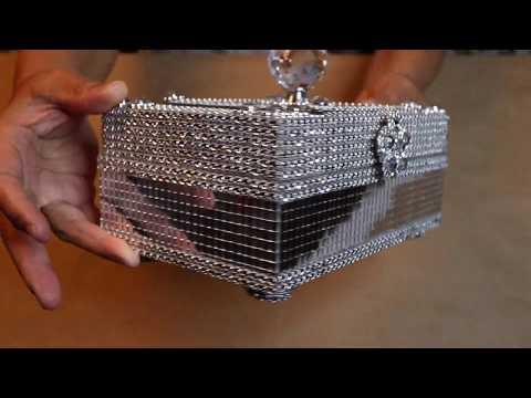 DIY GLAM JEWELRY BOX | KEEPSAKE BOX