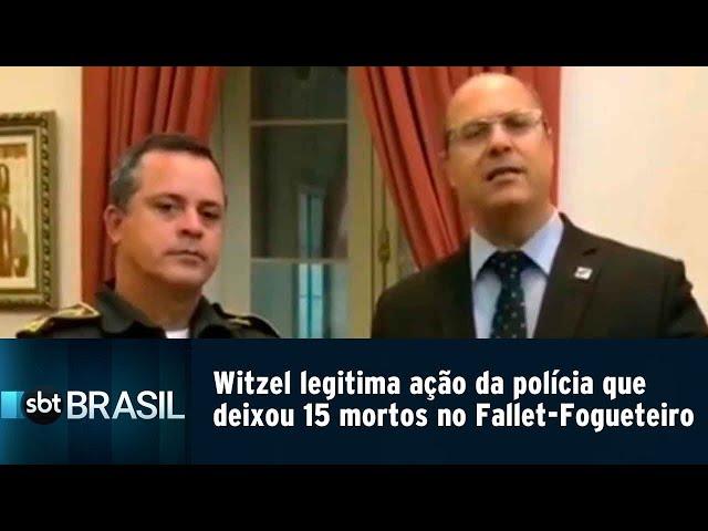 Witzel legitima ação da polícia que deixou 15 mortos no Fallet-Fogueteiro | SBT Brasil (14/02/19)
