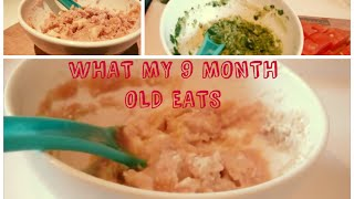 What My Month Old Eats