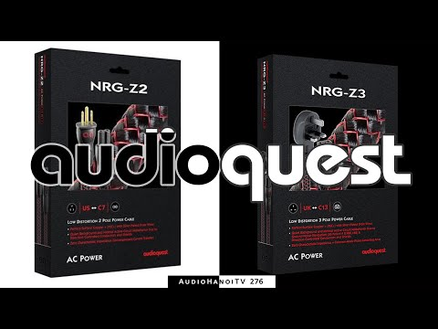 [AudioHanoiTV] Số 276: Review dây nguồn AudioQuest Z2 và AudioQuest Z3