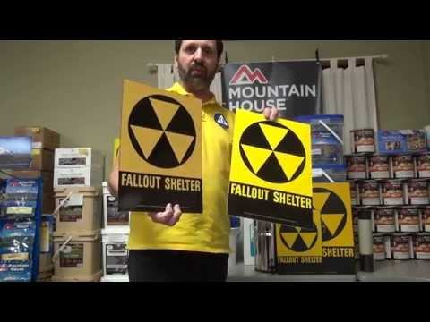 Original And Reproduction Fallout Shelter Signs