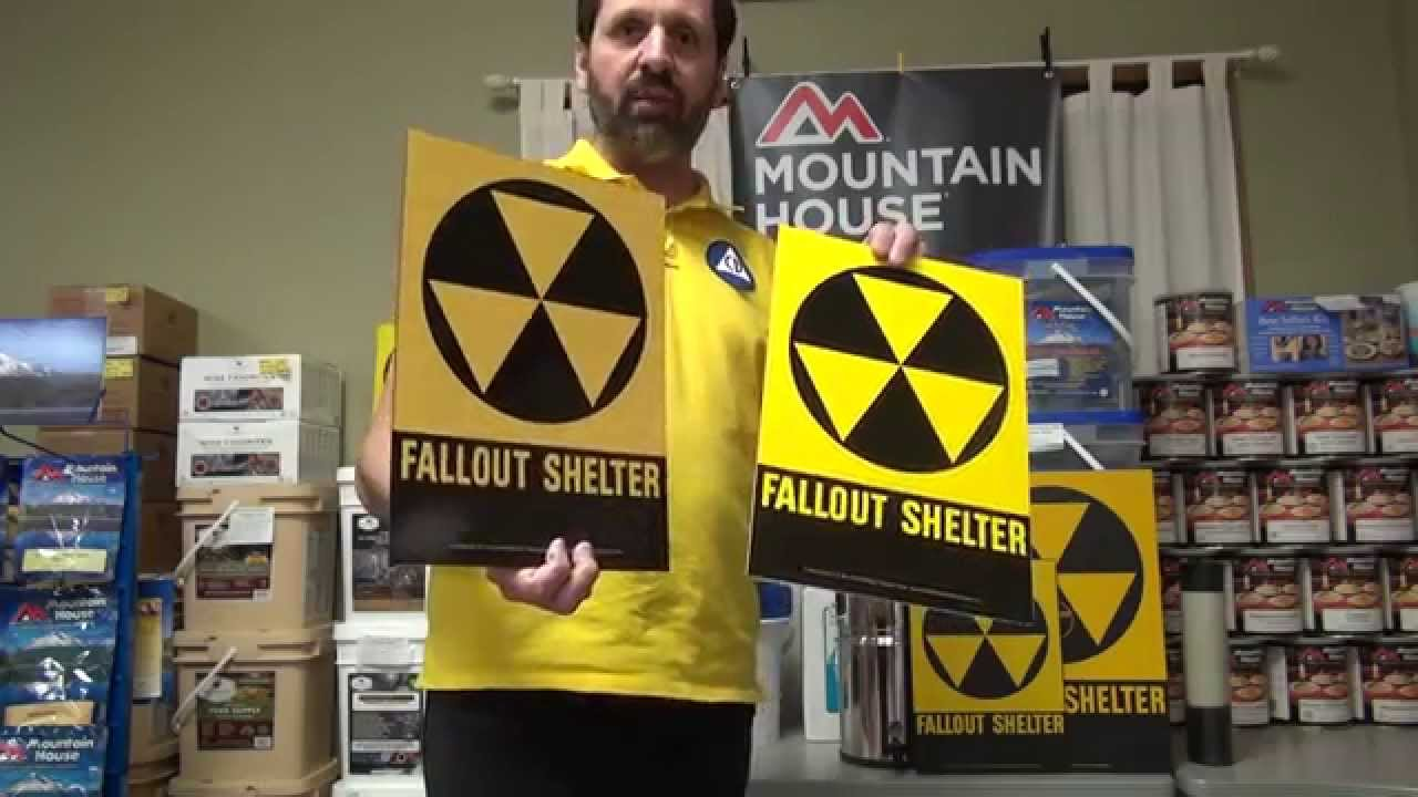 Original And Reproduction Fallout Shelter Signs Youtube