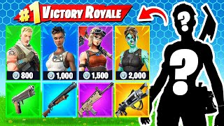 RANDOM SEASON 1 SKIN CHALLENGE in Fortnite ARENA
