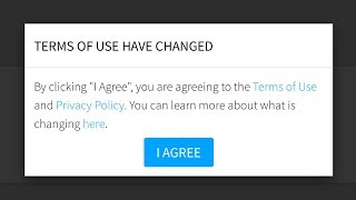 ROBLOX CHANGED THE TERMS OF SERVICE .. *BECAUSE OF US*