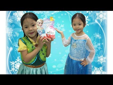 Bóc trứng socola Kinder Surprise Eggs Disney Frozen Elsa Anna - Nữ hoàng băng giá -AnhAnhChannel.com